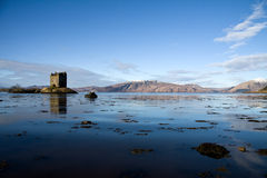 argyll城堡苏格兰潜随猎物者 库存照片