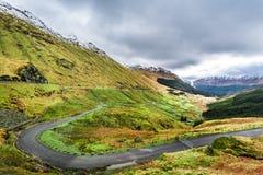 Argyll Forest Park, гористая местность в Шотландии Стоковая Фотография RF