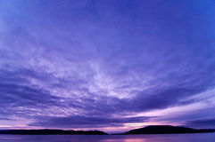 Argyll Sonnenuntergang Lizenzfreie Stockfotografie
