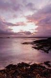Argyll sunset - Scotland. Dramatic Argyll sunset with storm clouds over sea - Scotland royalty free stock photo