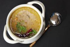 Arhar daal ή σούπα φακών Στοκ φωτογραφία με δικαίωμα ελεύθερης χρήσης
