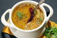 Arhar daal ή σούπα φακών Στοκ Εικόνα