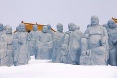 Arhat statues Stock Photo