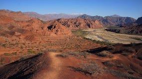 Arhentina, Salta, Quebrada de Cafayate Photographie stock libre de droits
