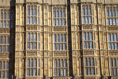 Arhitectur detail of Houses of Parliament, London. Stock Images
