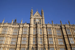 Arhitectur detail of Houses of Parliament, London. Stock Photo