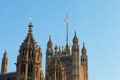 Arhitectur detail of Houses of Parliament, London. Stock Photography