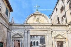 Arhitectural facade in Venice Italy Stock Photos