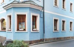 Arhitectural szczegół w Bischofshofen miasteczku w jesień dniu zdjęcia royalty free