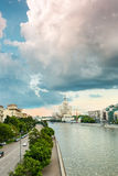 Arhitecture της Μόσχας κοντά στον ποταμό Moskva Στοκ Φωτογραφία