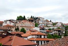 Arhitecture της πόλης της Οχρίδας, Μακεδονία Στοκ φωτογραφία με δικαίωμα ελεύθερης χρήσης