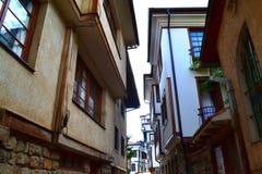 Arhitecture bonito de Ohrid fotos de stock royalty free