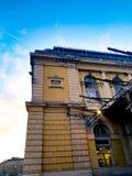 Arhitecture em Budapest, estação de trem imagem de stock