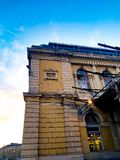 Arhitecture en Budapest, ferrocarril imagen de archivo