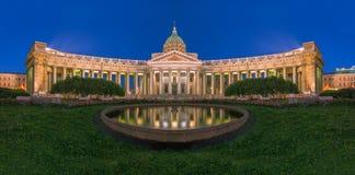 arhitektury大教堂有历史的喀山纪念碑 圣彼德堡 免版税库存图片