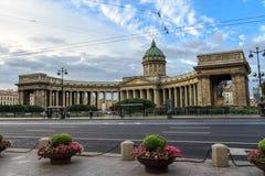 arhitektury大教堂有历史的喀山纪念碑 免版税图库摄影