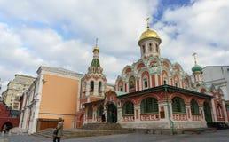 arhitektury大教堂有历史的喀山纪念碑 库存照片