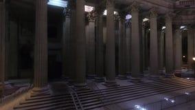 arhitektury大教堂有历史的喀山纪念碑 股票录像