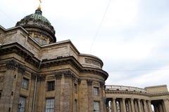 arhitektury ιστορικό kazan καθεδρικών ναών μνημείο Kazanskiy Kafedralniy Sobor γέφυρα okhtinsky Πετρούπολη Ρωσία Άγιος Στοκ εικόνες με δικαίωμα ελεύθερης χρήσης