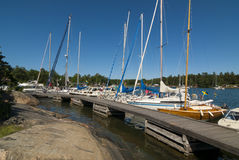 Arholma guest harbour Sweden Royalty Free Stock Image