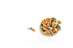 Arhtray με το σύνολο των τσιγάρων Στοκ Εικόνες