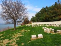 Ari Burnu公墓, Gallipoli 免版税库存图片