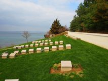 Ari Burnu Cemetery Gallipoli Royaltyfri Foto