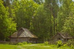 Aria aperta estone del museo storico della casa Fotografie Stock Libere da Diritti