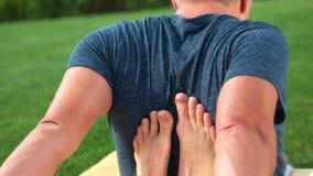 Aria aperta tailandese di massaggio archivi video
