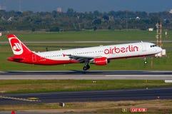 Aria Berlin Airbus A321 fotografie stock libere da diritti