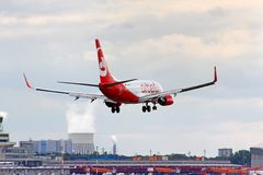 Aria Berlino Boeing 737 Fotografie Stock Libere da Diritti