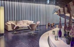 Aria del salotto in hotel contemporaneo fotografia stock