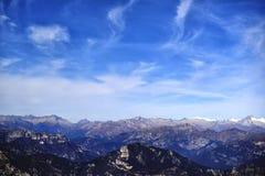 Aria fresca della montagna, respiro, libertà Fotografia Stock