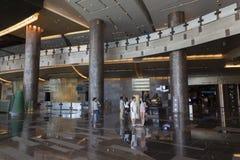 Aria Hotel Entrance em Las Vegas, nanovolt o 6 de agosto de 2013 Imagem de Stock Royalty Free