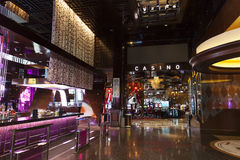 Aria hotel interior, in Las Vegas, NV on April 27, 2013 Royalty Free Stock Photo