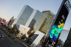 Aria Hotel, Las Vegas Blvd fotografie stock