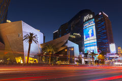 The Aria Hotel at night in Las Vegas, NV on May 18, 2013 Stock Image