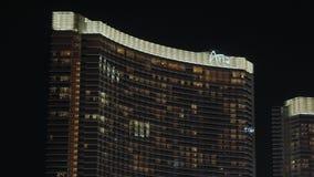 Aria Hotel que sorprende en Las Vegas - los E.E.U.U. 2017 almacen de metraje de vídeo