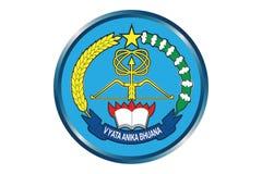 Aria indonesiana Devence Logo Editorial illustrazione di stock