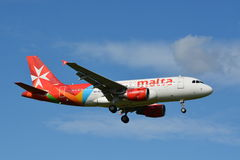Aria Malta/Airbus A319-112/9H-AEG Fotografia Stock Libera da Diritti