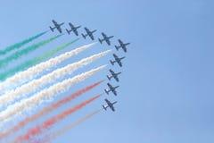 Aria-mostri il fromation del jet Fotografie Stock Libere da Diritti