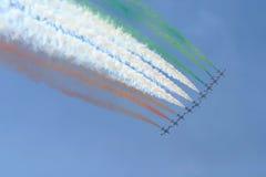 Aria-mostri il fromation del jet Fotografie Stock