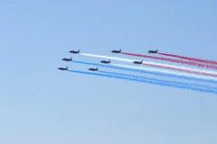 Aria-mostri il fromation del jet Fotografia Stock