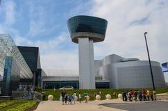 Aria nazionale e museo di spazio - centro Udvar-Nebbioso fotografia stock libera da diritti