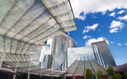 Aria Resort and Casino facade architectural detail Stock Images