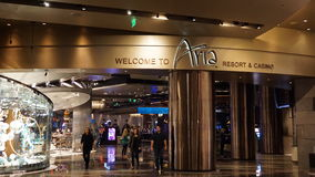 The Aria Resort and Casino in Las Vegas Royalty Free Stock Image
