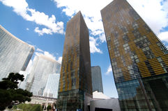 The Aria Resort and Casino towers Stock Photography