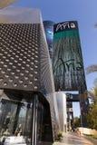 Aria Resort Sign en Las Vegas, nanovoltio el 19 de abril de 2013 Foto de archivo libre de regalías
