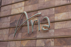 Aria Sign in Las Vegas, NV op 27 April, 2013 Stock Afbeelding