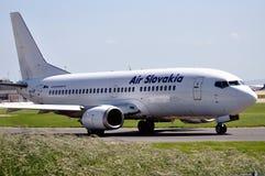 Aria Slovacchia Boeing 737 Fotografia Stock
